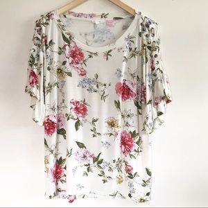 Maurice's Floral Braided Shoulder Top